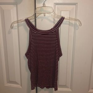 Red & White Striped Tank Top